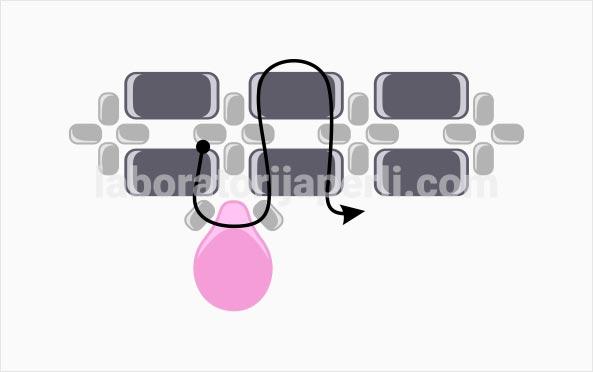 Narukvica sa dva lica korak 6