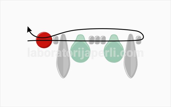 Privezak u obliku leptira korak 1