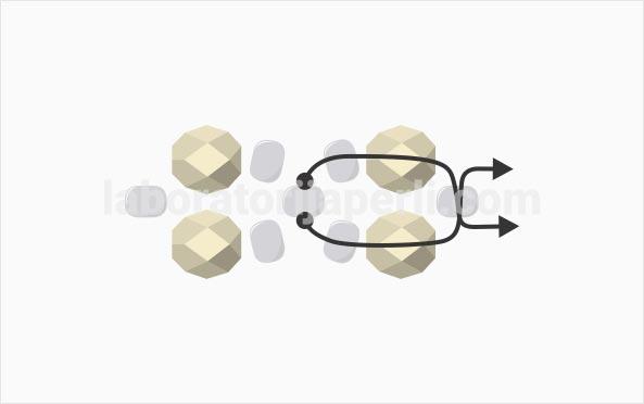 Prsten od brušenih perli korak 2