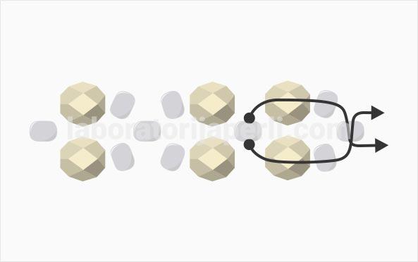 Prsten od brušenih perli korak 3