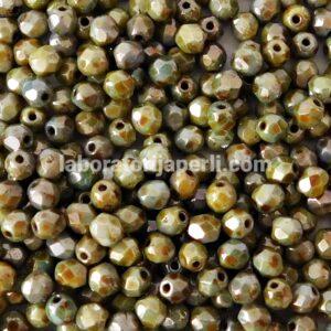 Brušene staklene perle 4 mm